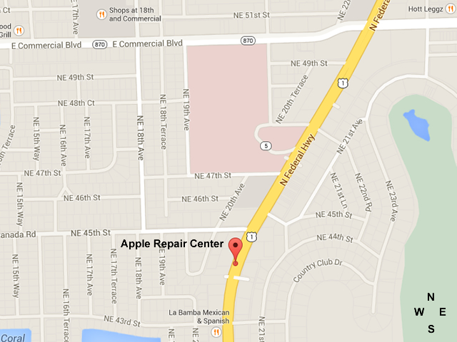 apple-repair-center-fort-lauderdale-map